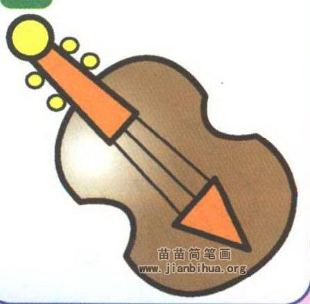 小提琴简笔画