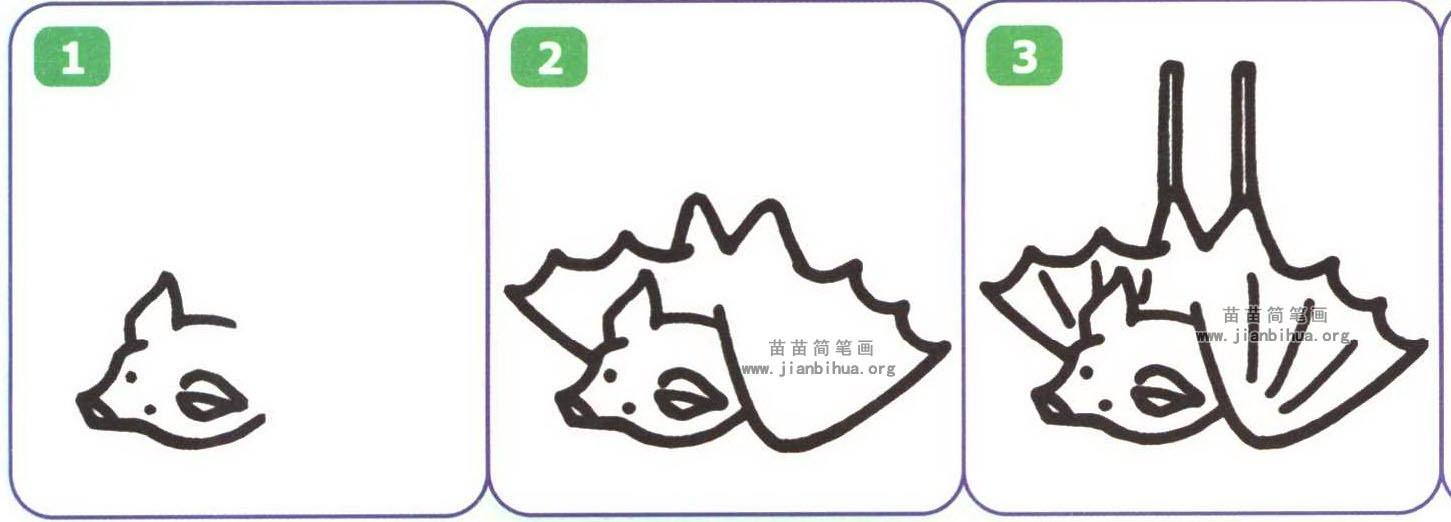 蝙蝠简笔画