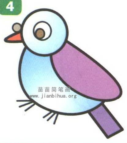 鸽子卡通简笔画最简单画法图解
