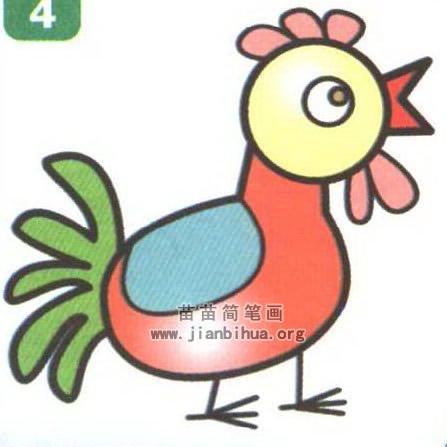 公鸡卡通简笔画图片教程