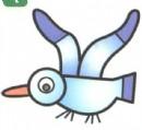 海鸥卡通简笔画图片教程