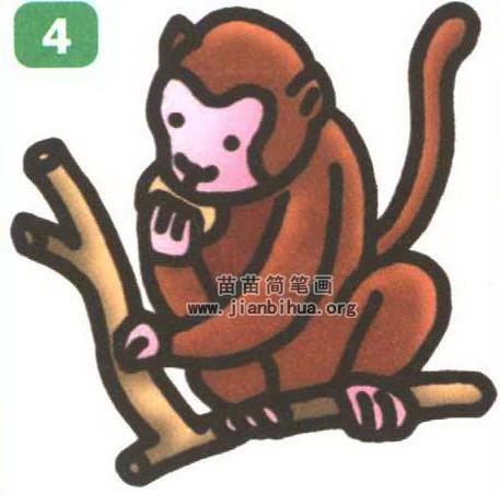 猴子卡通简笔画怎么画图解