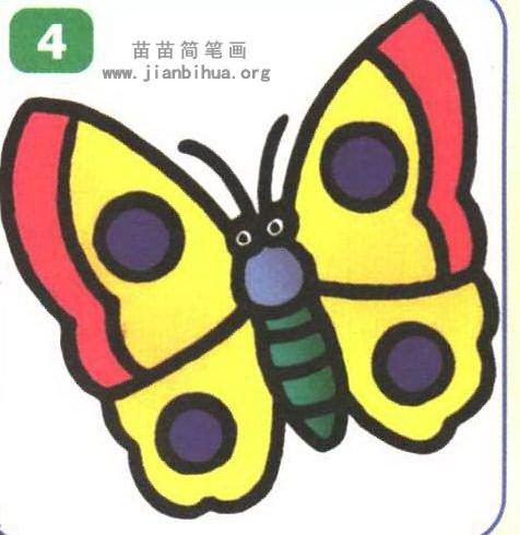 蝴蝶卡通简笔画图片-蝴蝶卡通简笔画怎么画图解