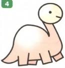 卡通恐龙简笔画怎么画图解