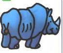 犀牛卡通简笔画图片教程