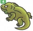 蜥蜴卡通简笔画图片教程