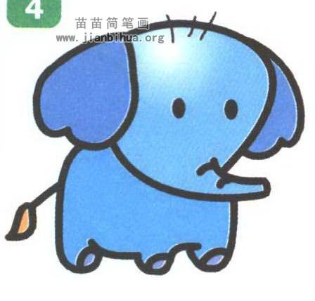小象卡通简笔画图片教程