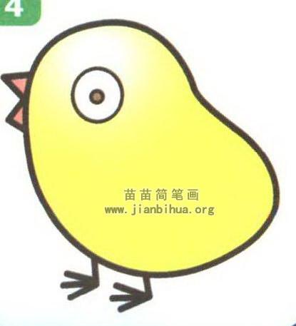 小鸡卡通简笔画图片大全(3个教程)