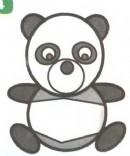 熊猫卡通简笔画怎么画图解