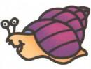 蜗牛卡通简笔画