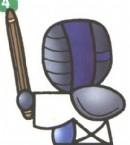 剑道运动员简笔画图片教程