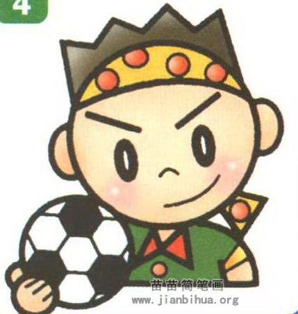 足球运动员简笔画图片教程