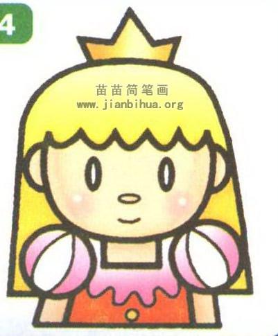 可爱公主简笔画 卡通人物发型简笔画图片展示_卡通人物发型简笔画