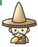 墨西哥人卡通简笔画图片教程
