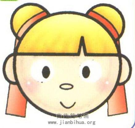 中国娃娃头像简笔画