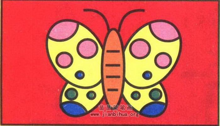 蝴蝶简笔画图片(彩色版)
