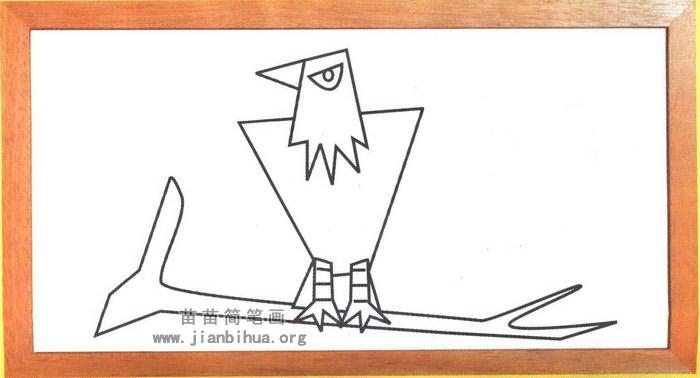 老鹰卡通简笔画怎么画图解