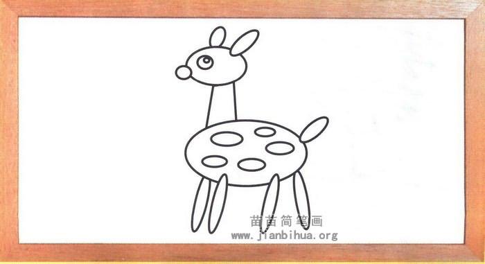 梅花鹿简笔画怎么画图解