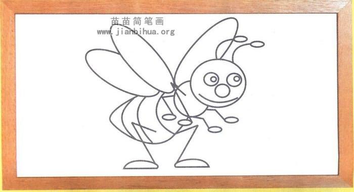 小蜜蜂简笔画怎么画图解