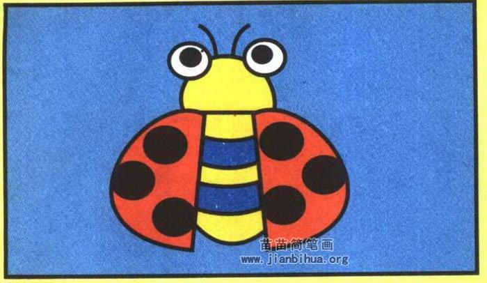 瓢虫简笔画图片(彩色版)