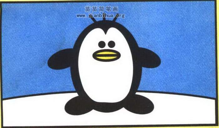 企鹅简笔画怎么画图解