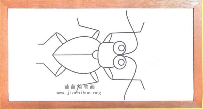 天牛简笔画
