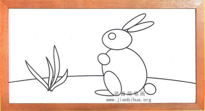 卡通兔子简笔画图片(未上色版)-卡通兔子简笔画步骤图解