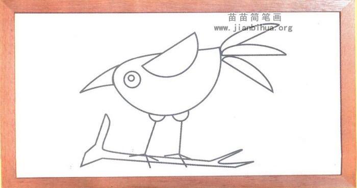乌鸦卡通简笔画图解图片