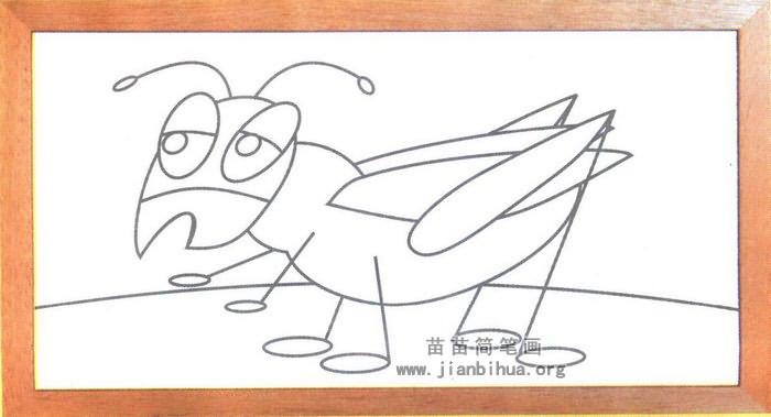 蟋蟀简笔画图片(未上色版)