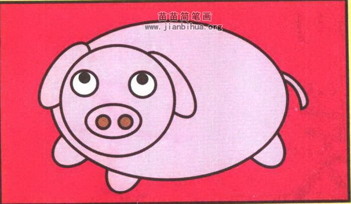 小猪卡通简笔画图片教程
