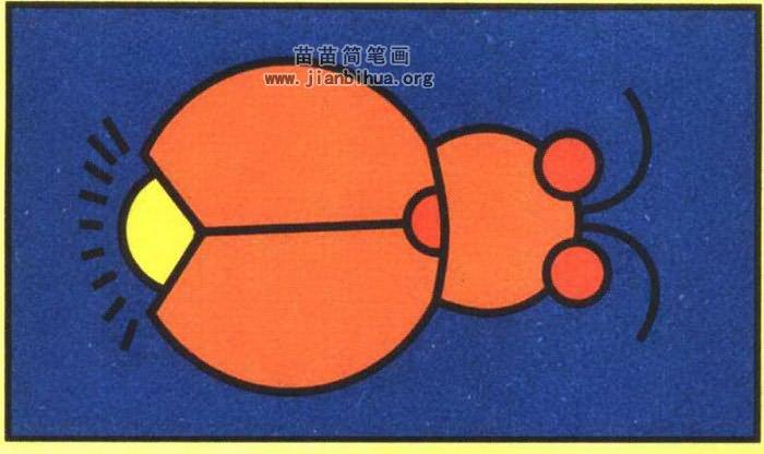 萤火虫卡通简笔画图片(彩色版)