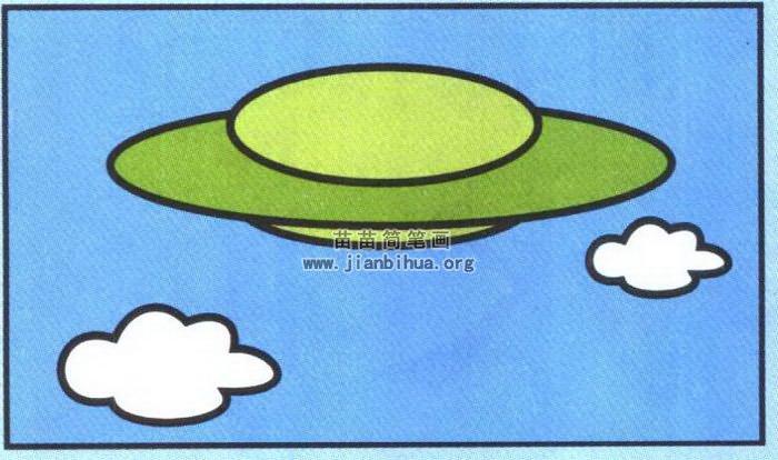 ufo画-飞碟简笔画简单画法图解