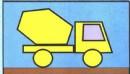 水泥搅拌车简笔画图解