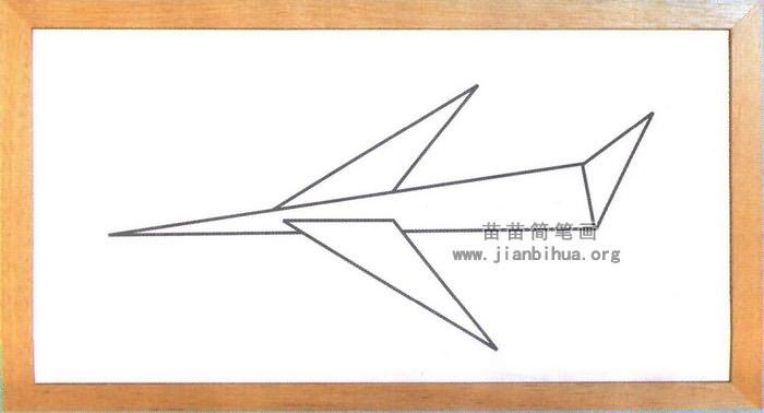 纸飞机简笔画图片(未上色版)-纸飞机简笔画画法图解