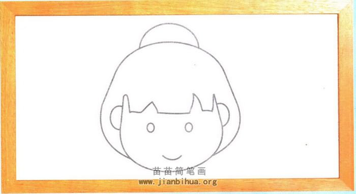 日本女孩子头像简笔画图片 教程