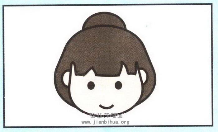 日本女孩子头像简笔画图片