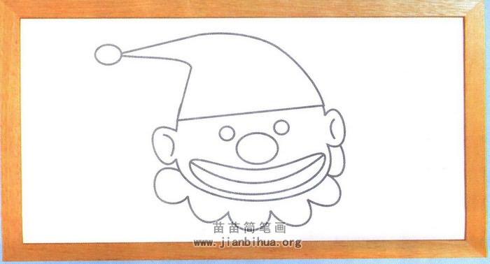 戴花边帽子的泰迪熊简笔画