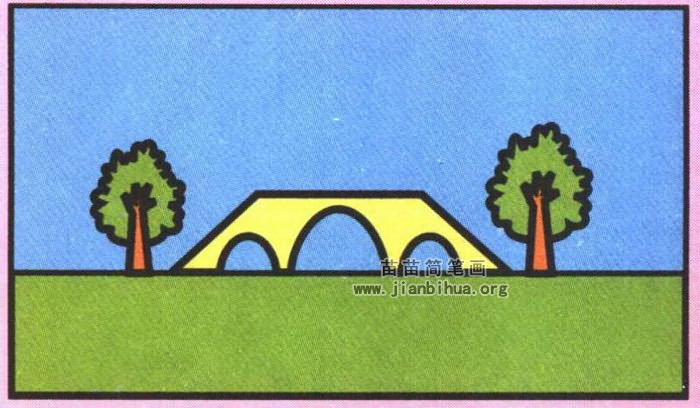 桥的简笔画简单画法图解