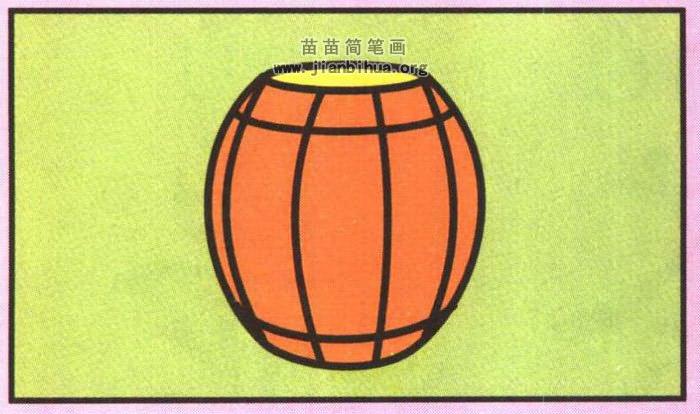 木桶简笔画图片 教程