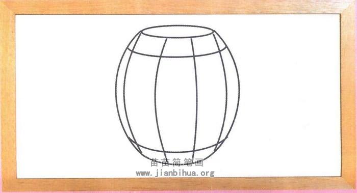 木桶简笔画