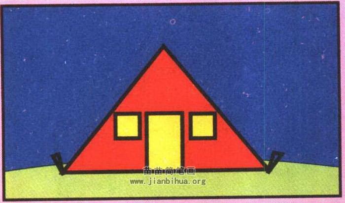 帐篷简笔画简单画法图解