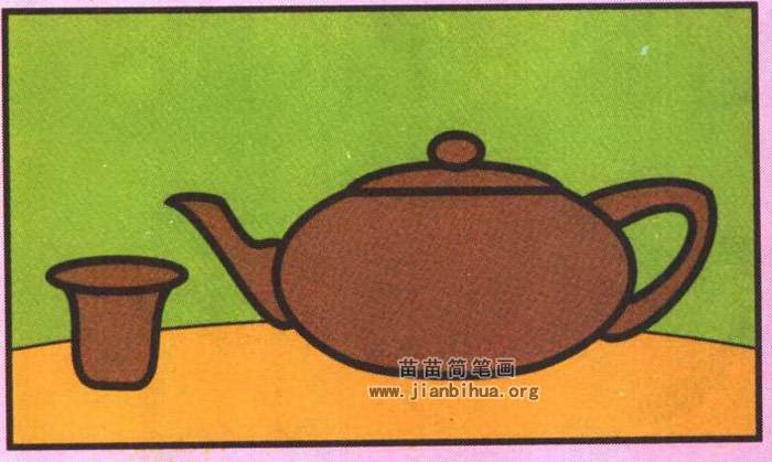 茶壶茶杯简笔画图片 教程