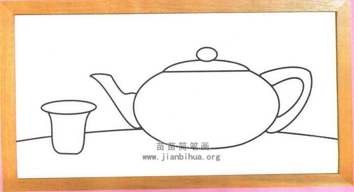 茶壶茶杯简笔画图片,教程