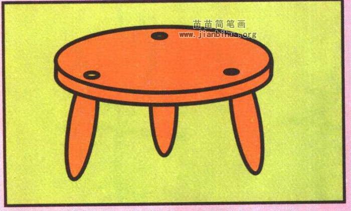 小凳子简笔画图片 教程