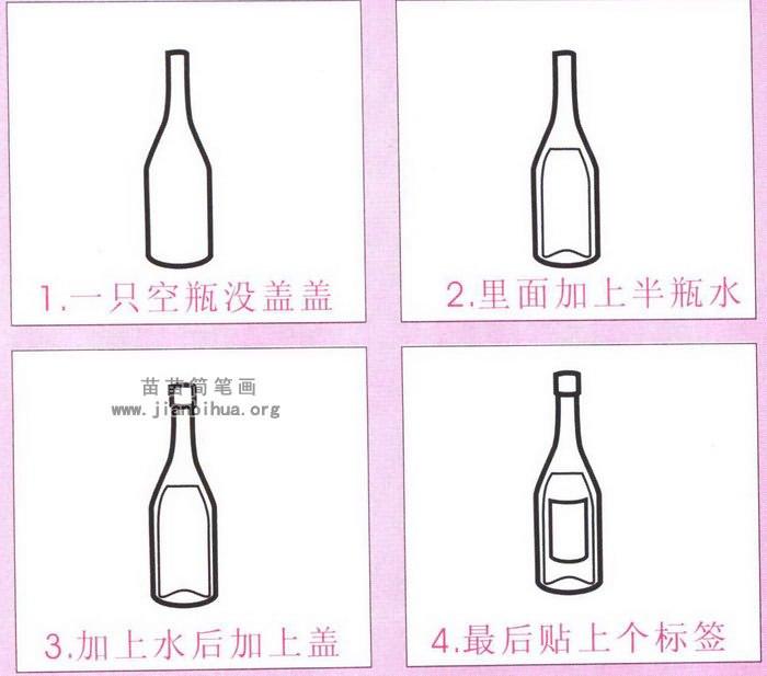 红酒瓶子简笔画图片,教程