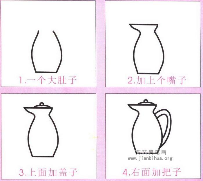 咖啡壶简笔画