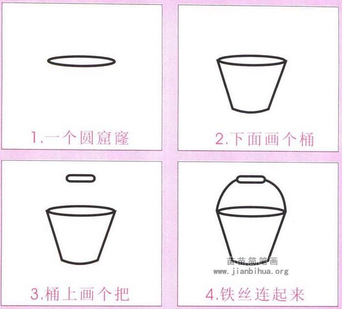 小水桶简笔画怎么画图解