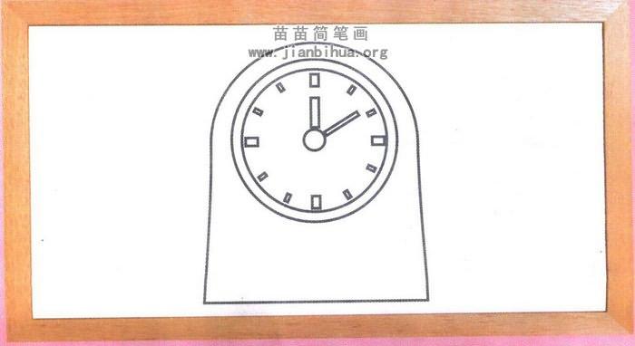 整点钟表简笔画怎么画图解图片