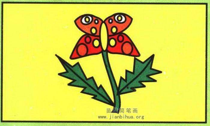 蝴蝶花简笔画图片,教程