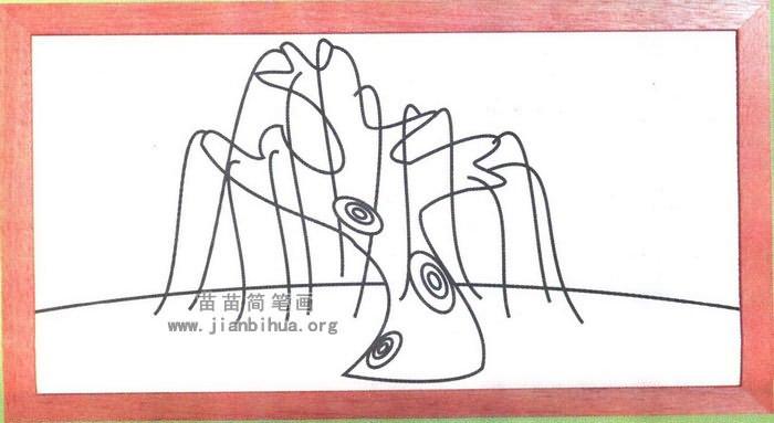 柳树简笔画怎么画图解